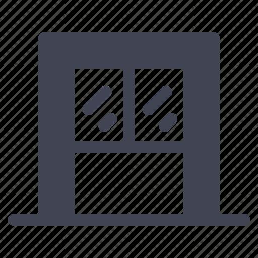 architecture, building, construction, house, window, windows icon