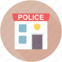 police department, police headquarter, police office, police station, public safety center icon