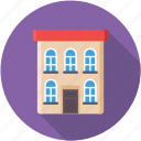 architecture, guest house, hotel building, lodge, motel icon