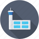 airport control tower, airport traffic control tower, atct, building, control tower icon