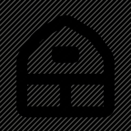 barn, building, city, depot, farm, home, village icon