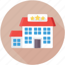 five star hotel, guest house, lodge, luxury hotel, motel icon
