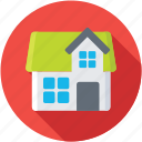 architecture, countryside, farmhouse, homestead, rural house icon