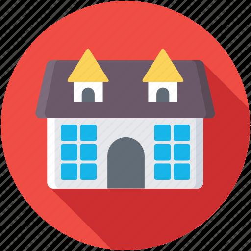 architecture, countryside, farmhouse, homestead, rural house icon