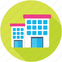 apartments, flats, shopping center, shopping mall, trade center icon