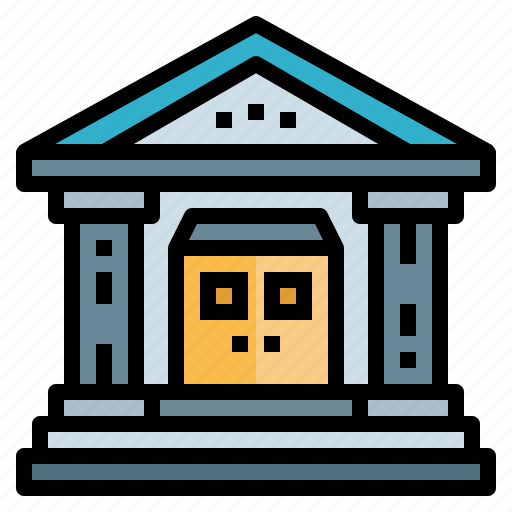 book, building, library, study icon