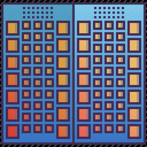 apartment, building, business, condo, enterprise icon