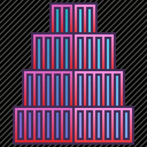 block, building, company, enterprise, headquarter icon