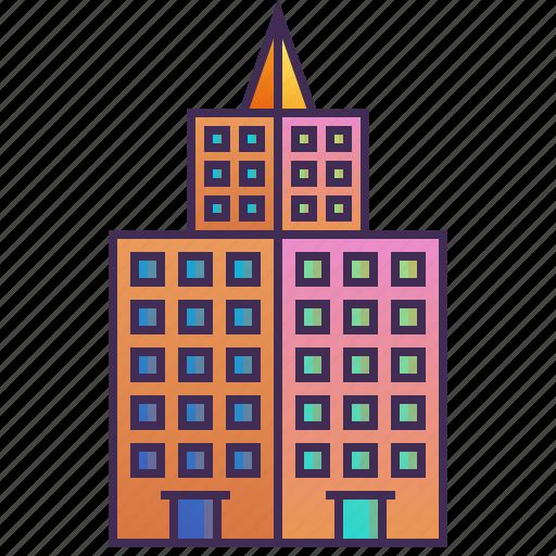 building, company, enterprise, headquarter, mansion icon