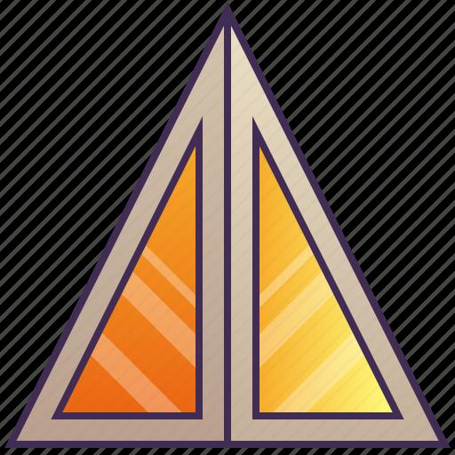 building, company, enterprise, headquarter, pyramid icon