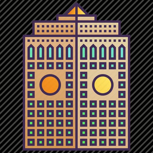 Building, company, headquarter, skyscraper, enterprise, cityscape icon