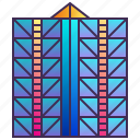 building, company, enterprise, exterior, headquarter, skyscraper icon