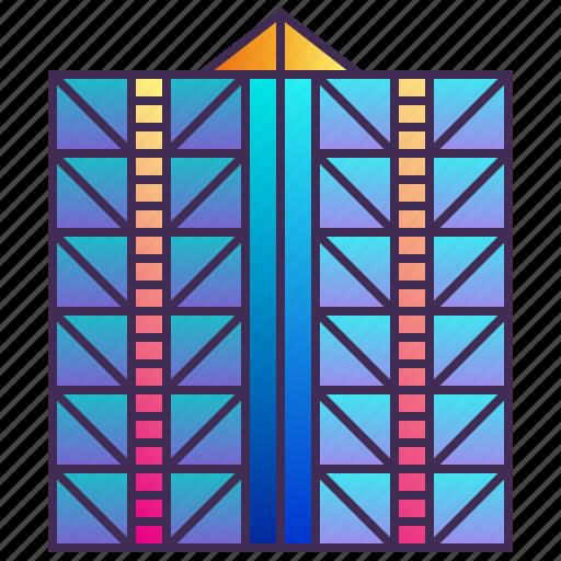 building, company, enterprise, exterior, headquarter, skyscraper icon