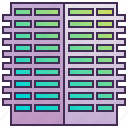 building, company, enterprise, flat, headquarter, skyscraper icon