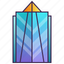building, company, enterprise, futuristic, headquarter, skyscraper icon