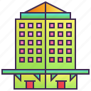 building, company, enterprise, headquarter, hotel, skyscraper icon