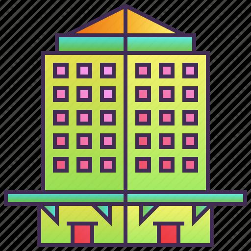 building, company, enterprise, headquarter, hotel, skyscraper icon
