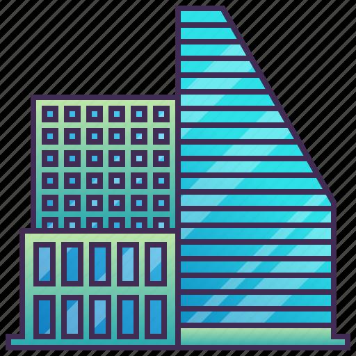building, city, enterprise, futuristic, modern icon