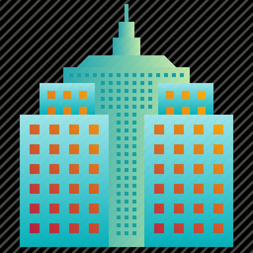 building, city, company, enterprise, hall, headquarter icon