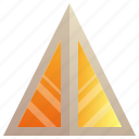 building, company, enterprise, headquarter, pyramid icon