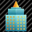 apartment, building, city, enterprise, futuristic, modern icon