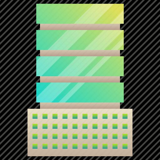 building, car, company, headquarter, park icon