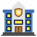 architecture, building, buildings, construction, office, police, police station icon