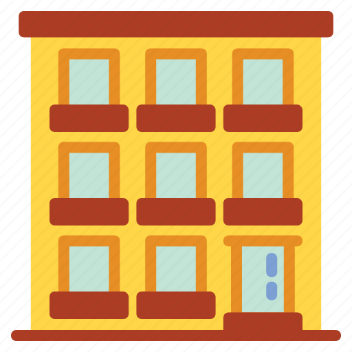 apartment, building, buildings, hotel, house, lodging, office icon