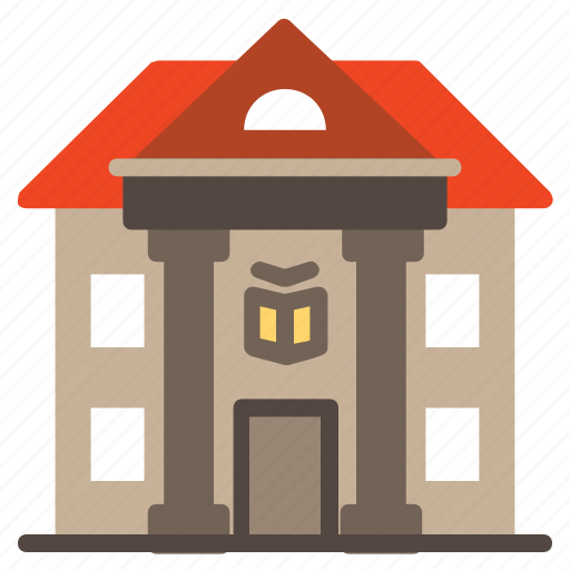 book, buildings, education, knowledge, learning, library, university icon