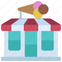 ice, cream, store, shop, food