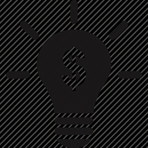 bulb, idea, light, online icon