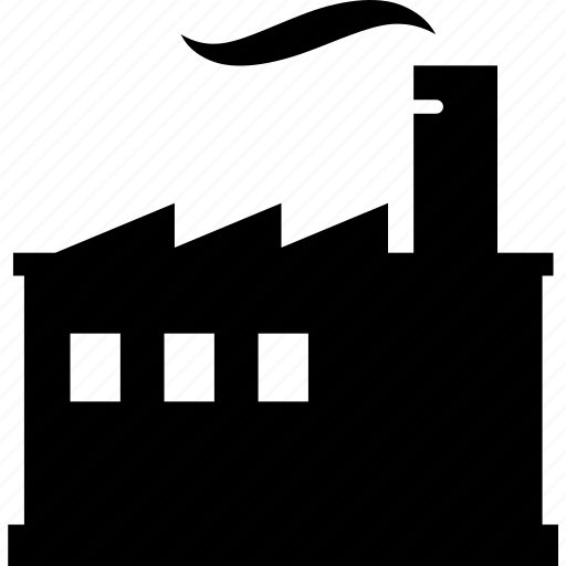 building, business, factory, industry, manufacturing, smokestack icon