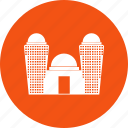 building, city, hotel, office, tomb icon