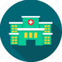aid, care, emergency, healthcare, hospital, hospital building, medical icon