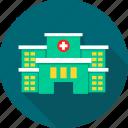 aid, care, emergency, healthcare, hospital, hospital building, medical icon
