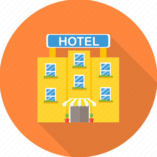 architecture, building, hotel, hotel building, motel icon