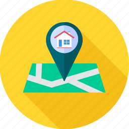 building location, gps, house location, location, navigation icon
