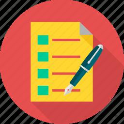 check list, checklist, checkmark, document, list, paper, tick icon