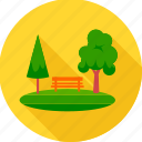 garden, park, nature, tree