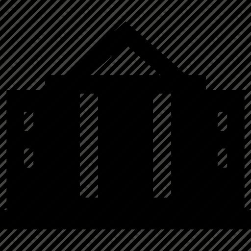 authority, building, estate, house, white icon