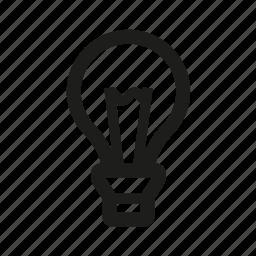 bright, bulb, fluorescent, heatidea, lamp icon