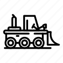 bulldozer, business, car, construction, industry, loader, transport