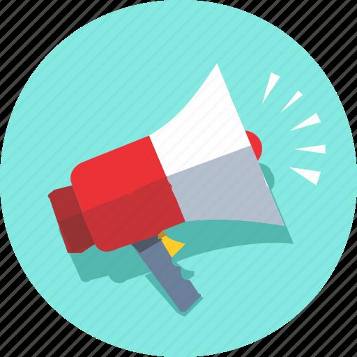 announce, announcement, speak, speaker, talkback icon
