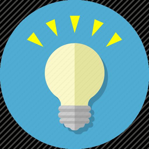 creative, creativity, idea, innovation, inspiration, light, lightbulb icon
