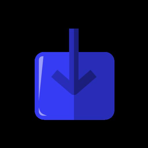 arrow, arrow down, download, export, import, install icon