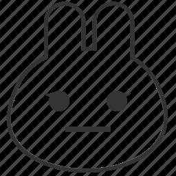 animals, bunny, emojis, emoticons, rabbit, smile, smiley icon