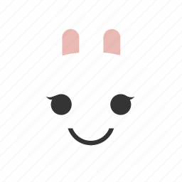 animals, bunny, emojis, emoticons, rabbit, smile, smiley icon