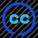 cc, commons, creative icon