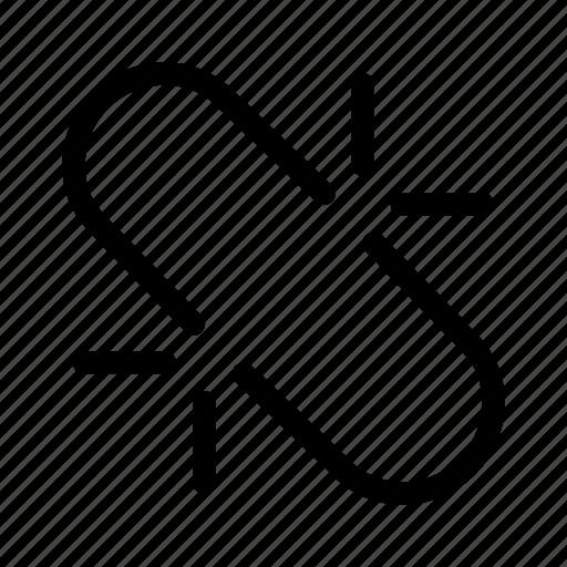 broken, link, url, web, website icon