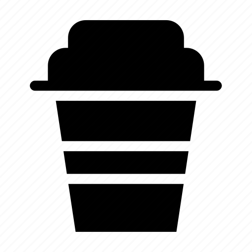 coffee, cup, disposable, drink, plastic icon